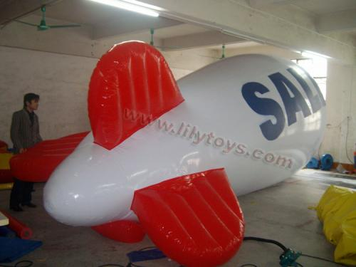 air ship with logo